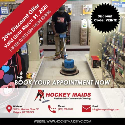 Hockey Maids Calgary 20 Percent Discount Offer 2020